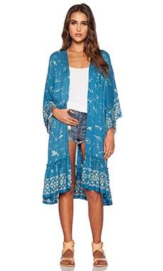 bohemian BONES Pioneer Kimono in Cult Print