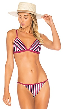 Key to Life Triangle Top in Academy Stripe