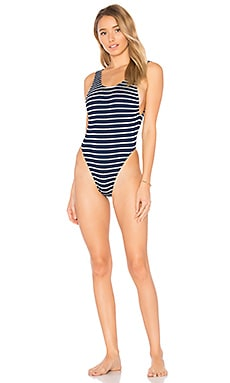 x BOUND Maxam One Piece Swimsuit in Navy & White Stripe