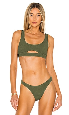 X BOUND Sasha Crop Bikini Top Bond Eye $105