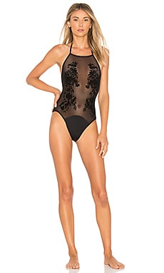 Nocturnal Flocked One Piece