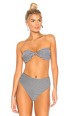 Knot Me Rib Bandeau Bikini Top Bond Eye $90
