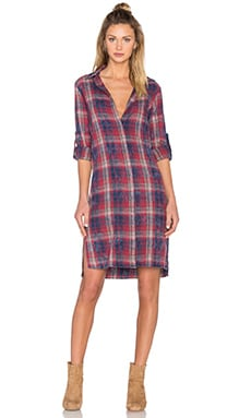 Black Orchid Plaid Shirt Dress in Americana