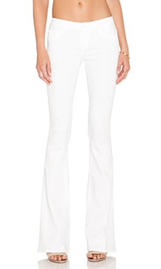 Black Orchid Mia Mid Rise Skinny Flare in Snow White