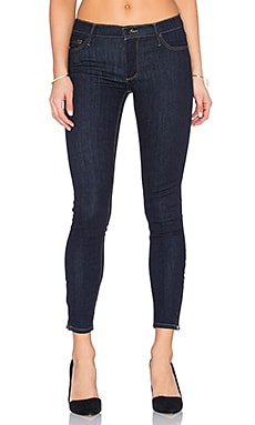Black Orchid Amber Zipper Skinny in Midnight