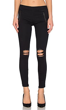 Zipper Legging in Blacklist