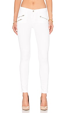 Black Orchid Billie Zipper Skinny in Snow White