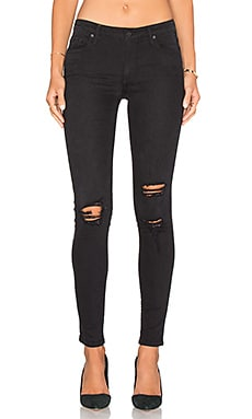 Jude Mid Rise Super Skinny en Black Rock