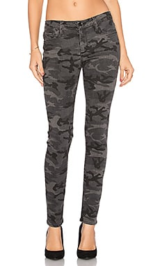 Jude Mid Rise Super Skinny in Black Camo