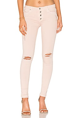 Candice Button Front Skinny in Rosewater