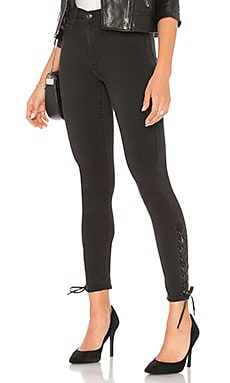 Lara Lace Down Skinny Black Orchid $93