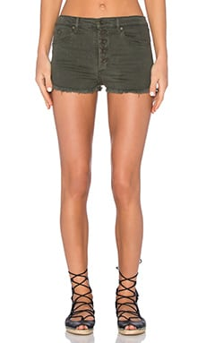 Black Orchid Button Front Short in Fall in Line