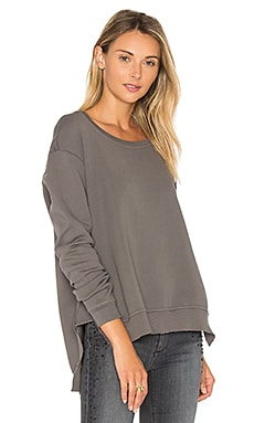 Boxy Asymmetrical Sweatshirt in Iron Grey