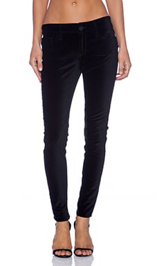Black Orchid Velvet Super Skinny in Onyx