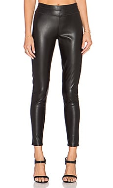 Black Orchid Faux Leather Pull On Pant in Black Night