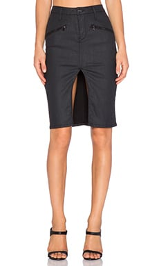 Black Orchid Zipper Pencil Skirt in Equinox