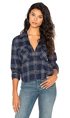 Plaid Button Up en Bleu