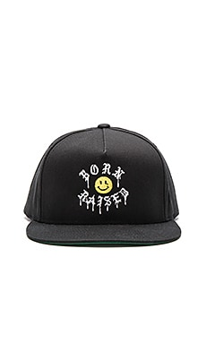 Born x Raised Acid Snapback in Black