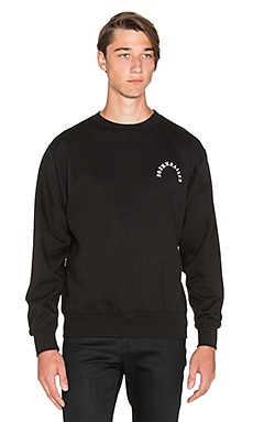 Born x Raised Type Crewneck in Black