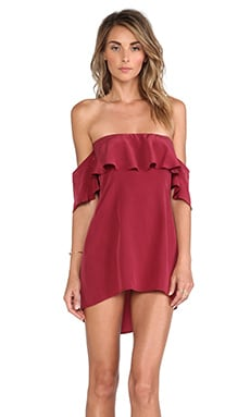 Boulee Emily Washed Silk Dress in Wine
