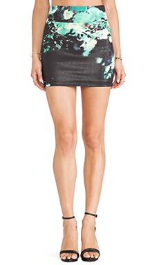 Boulee Levi Mini Skirt in Foil Print