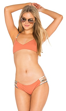 Dylan the Desperado Bikini Top in Paprika