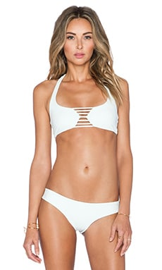 BOYS + ARROWS Margot the Mess Bikini Top in Seaglass