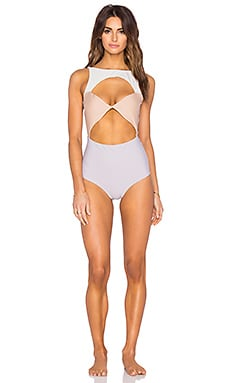 BOYS + ARROWS Champagne Charmaine Swimsuit in Ombre