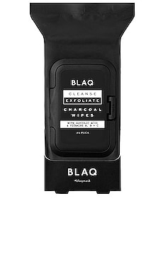 Charcoal Face Wipes BLAQ $13