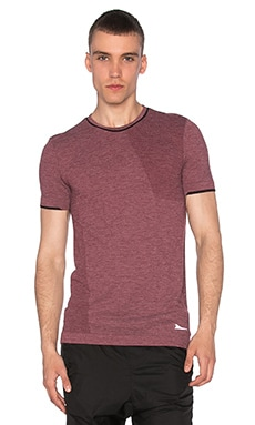 Brandblack Seamless Merino Wool Tee in Burgundy