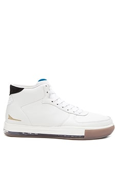 Brandblack Jet Mid Air Bag Lace Up in White