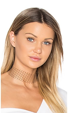 Single Layer Net Choker en Noir