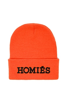Brian Lichtenberg Homies Unisex Beanie in Orange/Black