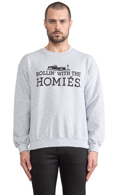 Brian Lichtenberg Rollin' with the Homies Sweatshirt in Heather Grey/Black