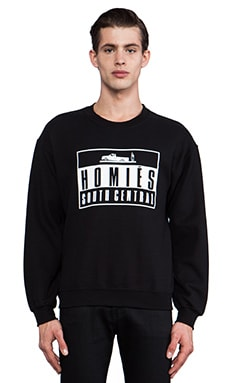 Brian Lichtenberg Homies Advisory Sweatshirt in Black & White