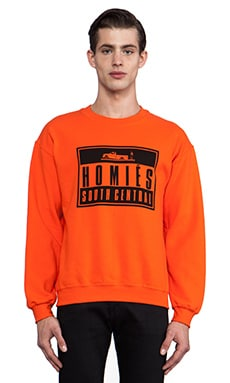 Brian Lichtenberg Homies Advisory Sweatshirt in Orange & Black