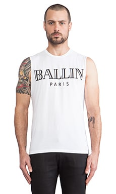 Brian Lichtenberg Ballin Muscle Tee in White & Black