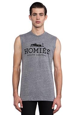 Brian Lichtenberg T-shirt Homies sans manches en Gris Chiné/noir