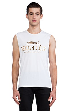 Brian Lichtenberg Homies Muscle Tee in White/Gold Foil