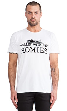 Brian Lichtenberg Rollin' with the Homies Tee in White & Black