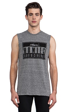 Brian Lichtenberg Homies Advisory Muscle Tee in Heather Grey & Black