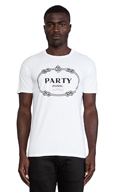 Brian Lichtenberg Party Animal Tee in White