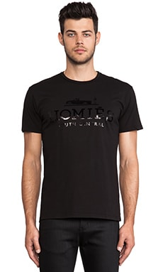 Brian Lichtenberg T-shirt Homies unisexe manches courtes en Noir/Noir Brillant