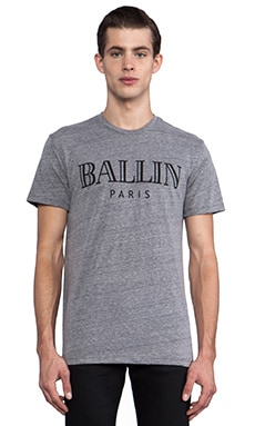 Brian Lichtenberg Ballin Tee in Heather Grey/Black