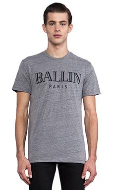 Brian Lichtenberg T-shirt Ballin en Gris Chiné/noir