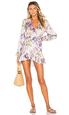 x V. Chapman Lotus Wrap Dress BEACH RIOT $147