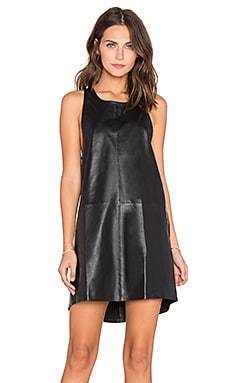 BEACH RIOT Pistola Leather Dress in Black