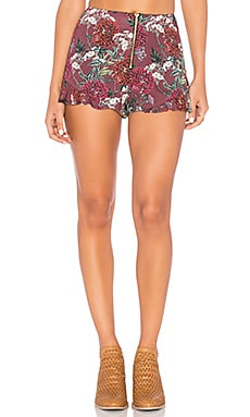Dahlia Short in Maroon Floral
