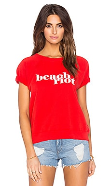 Beach Riot Fleece Tee in Red