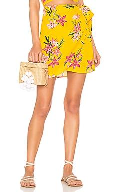 x REVOLVE Lexi Wrap Skirt BEACH RIOT $105